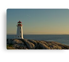 Peggy's Cove lighthouse on a Sunday afternoon Canvas Print