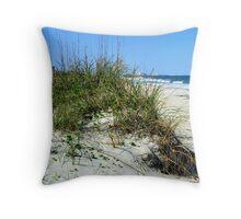 beach sand dune Throw Pillow