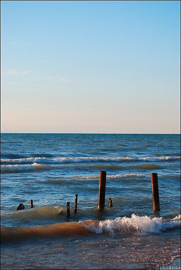 Edge of the Earth: Lake Huron Sunset by Potassium