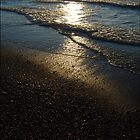 Ray: Golden sunset of Lake Huron by Potassium