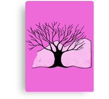 Tree and Mountain - Simple but unique drawing Canvas Print