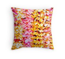 Plumeria Leis  Throw Pillow