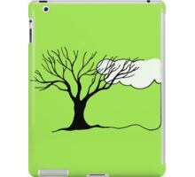Simple Tree and Cloud Drawing iPad Case/Skin
