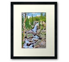 RMNP / Alberta Falls Framed Print