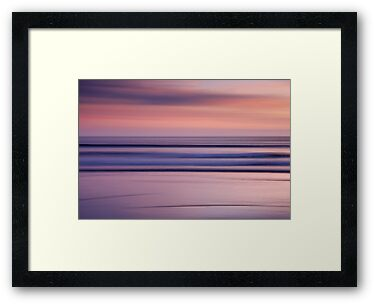 Sunset on an Abstract Beach by Robin Whalley