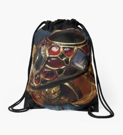 Gilded Denim 1 Drawstring Bag