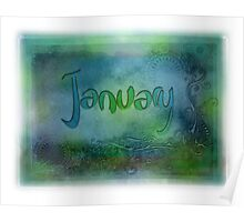 January (from a year full of color) Poster