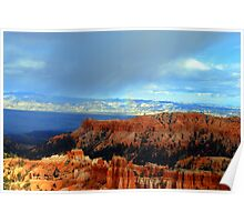 BRYCE CANYON, UT WITH A LITTLE RAINBOW Poster