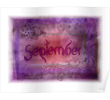 September (from a year full of color) Poster