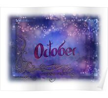 October (from a year full of color) Poster
