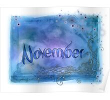 November (from a year full of color) Poster