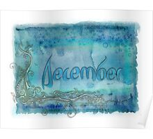 December (from a year full of color) Poster