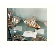 Silver-plate  Laarne Castle - Belgium - Wolf beaker Art Print