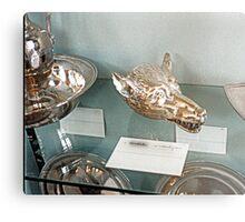 Silver-plate  Laarne Castle - Belgium - Wolf beaker Metal Print