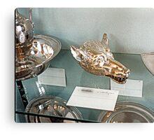 Silver-plate  Laarne Castle - Belgium - Wolf beaker Canvas Print