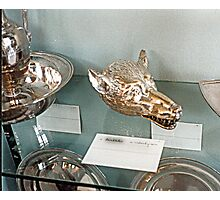 Silver-plate  Laarne Castle - Belgium - Wolf beaker Photographic Print
