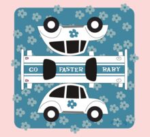 Go Faster, Baby! (blue) Kids Clothes