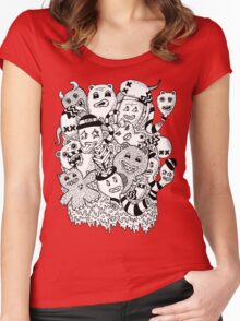Abstract Monsters Women's Fitted Scoop T-Shirt