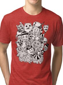 Abstract Monsters Tri-blend T-Shirt