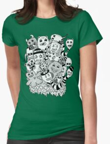 Abstract Monsters Womens Fitted T-Shirt