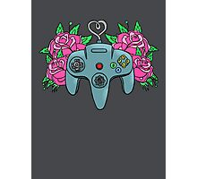 Retro Girl Gaming Photographic Print