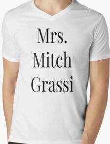 Mrs. Mitch Grassi Mens V-Neck T-Shirt