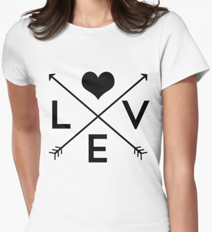 Love Is Everywhere Womens Fitted T-Shirt