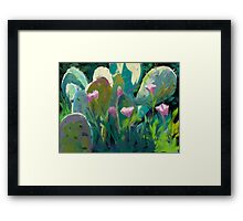 Cactus and California Poppies Framed Print