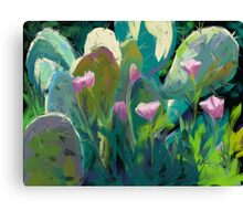 Cactus and California Poppies Canvas Print