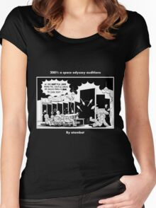 2001: a space odyssey auditions Women's Fitted Scoop T-Shirt