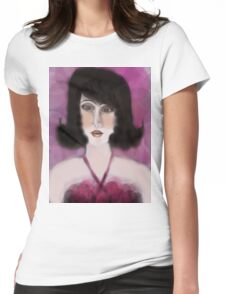 Pink Dress Womens Fitted T-Shirt