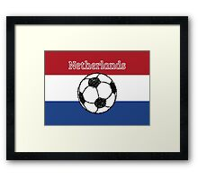 The flag of the Netherlands Football Framed Print