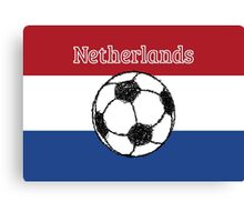 The flag of the Netherlands Football Canvas Print