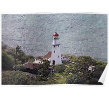 Lighthouse, Diamondhead, HI USA Poster