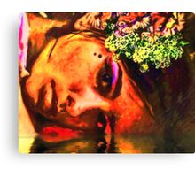 Little Flowers In Her Hair Canvas Print
