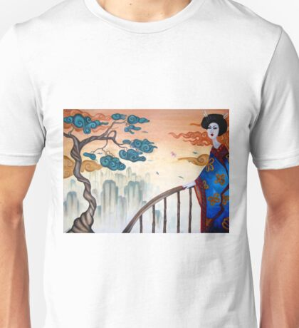 Geisha and the Mountains Unisex T-Shirt