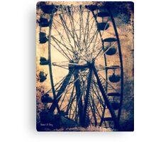Vintage Ferris Wheel, Fall Fair Canvas Print