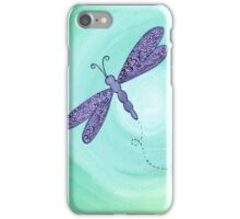 purple dragonfly iPhone Case/Skin