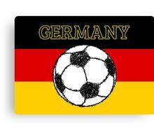 German Flag with Football Canvas Print