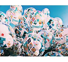 Disneyland 60th Balloons  Photographic Print