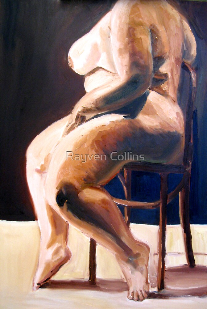 goddess in modeling chair, work in progress by Rayven Collins