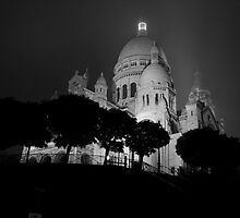Sacré-Cœur dans le brouillard by Patrick T. Power