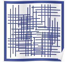 Mondrian's Blue Period  Poster