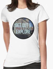 get out & explore Womens Fitted T-Shirt