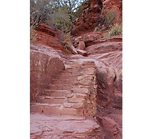 Red Rock Stairs Photographic Print