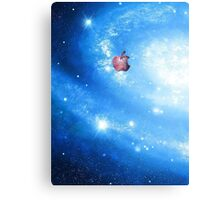 Galaxy Apple Canvas Print