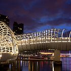 Webb Bridge Twilight Melbourne City Victoria Austalia by PhotoJoJo
