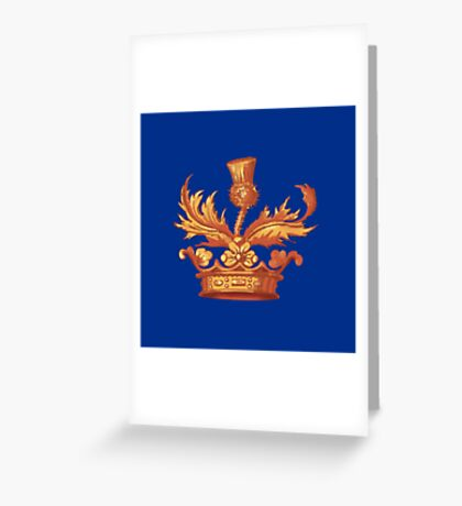 Outlander Book Cover Crown Design Greeting Card