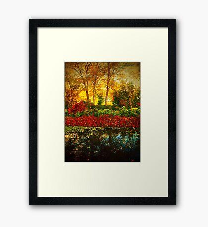 Autumn the Japanese Gardens 4 Framed Print