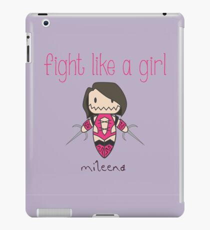 Fight Like a Girl - Clone iPad Case/Skin